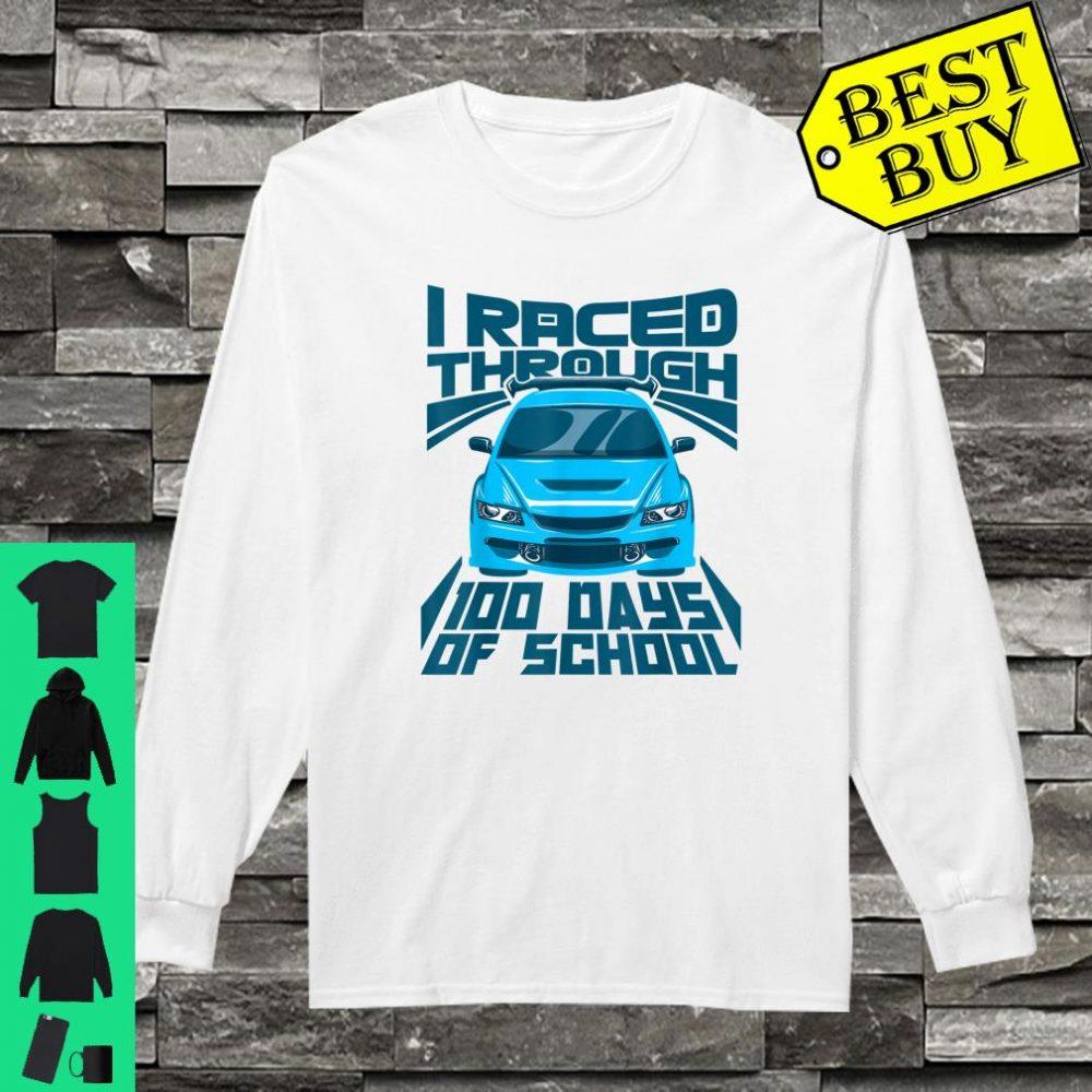 Cool Car I Raced Through 100 Days of School Boys shirt long sleeved