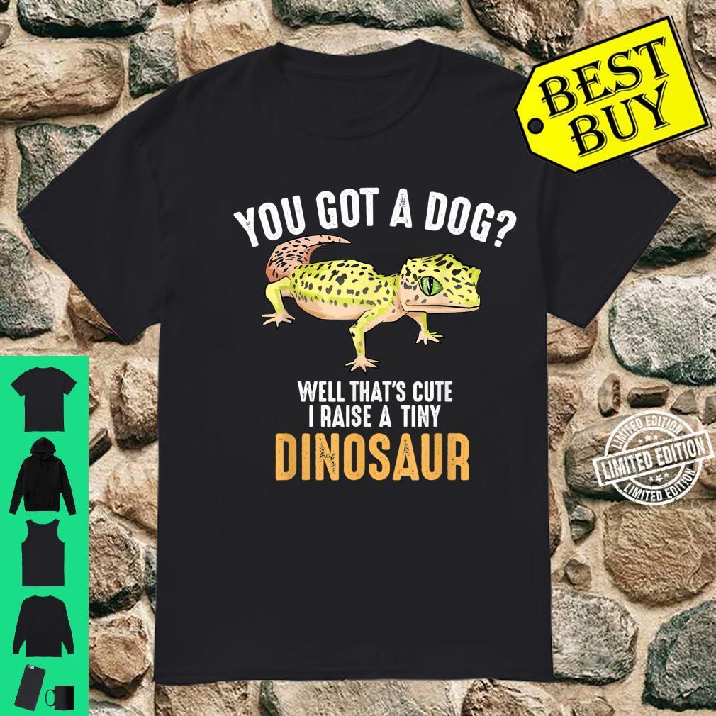 Cool I Raise Tiny Dinosaur Leopard Gecko Pet Shirt