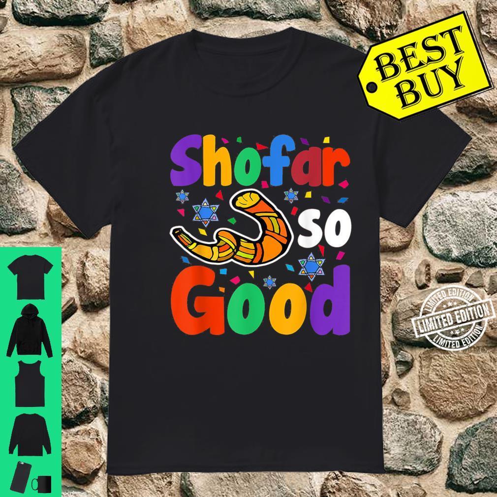Cool Rosh Hashanah Costume Shofar So Good Jewish Shirt