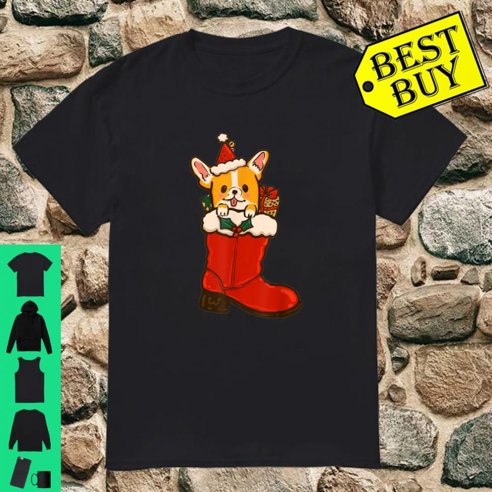 Corgi in your boots shoes christmas shirt