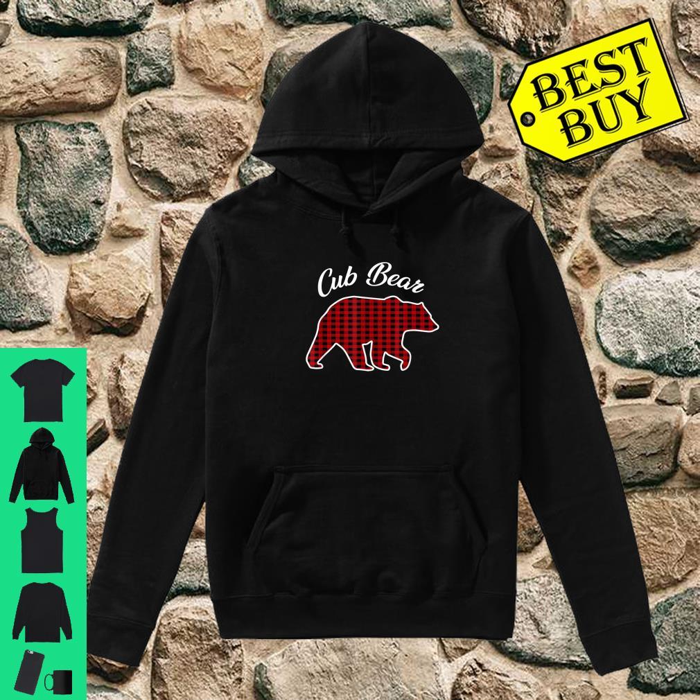 Cub Bear Kids Red Plaid Christmas Pajama Family Gift shirt hoodie