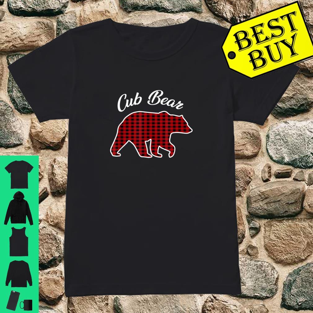 Cub Bear Kids Red Plaid Christmas Pajama Family Gift shirt ladies tee