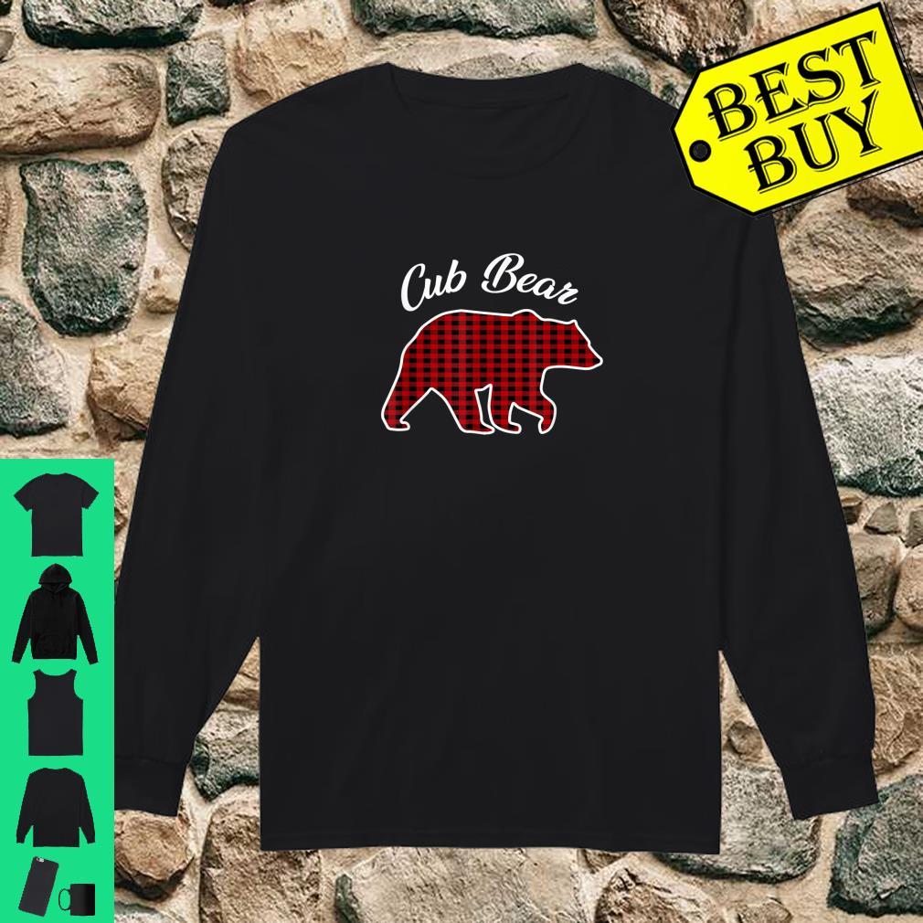 Cub Bear Kids Red Plaid Christmas Pajama Family Gift shirt long sleeved