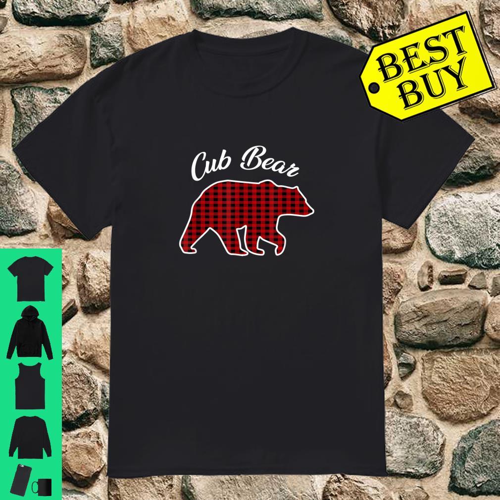 Cub Bear Kids Red Plaid Christmas Pajama Family Gift shirt