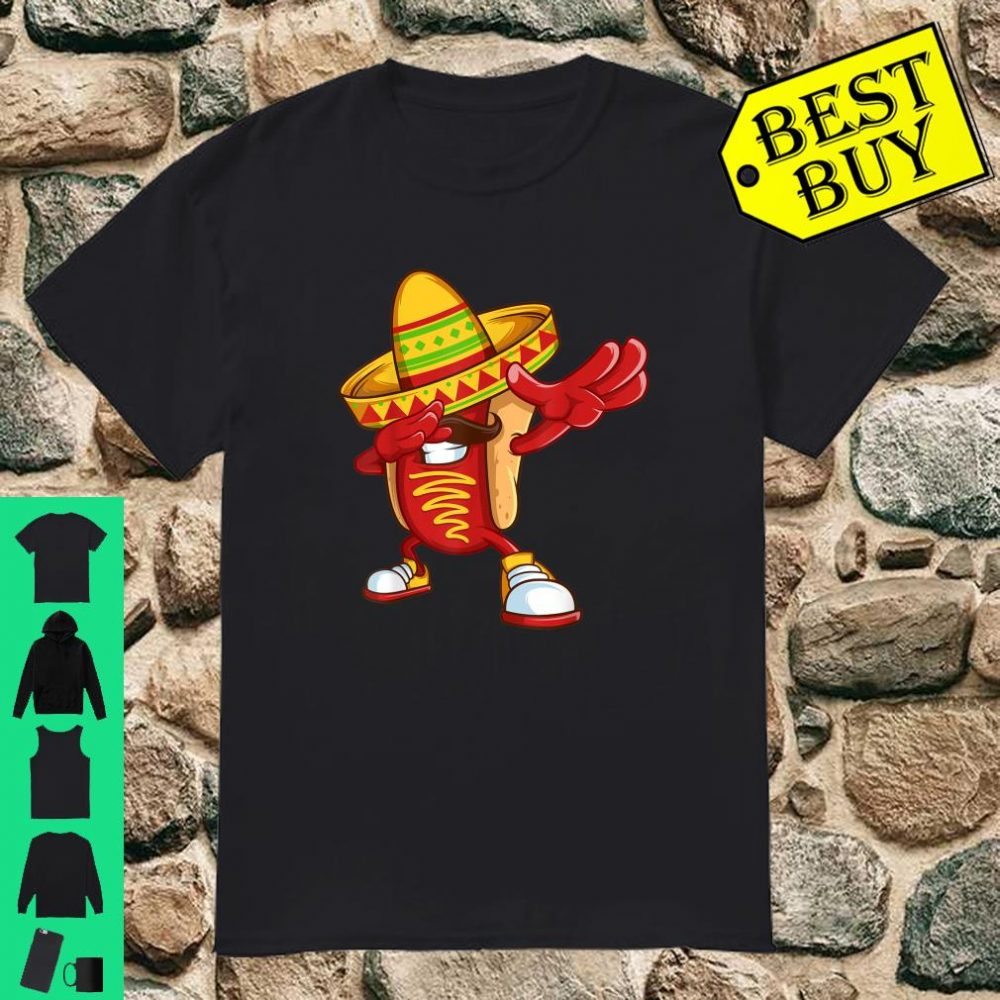 Dabbing Hotdog Mexican Cinco De Mayo Outfit shirt