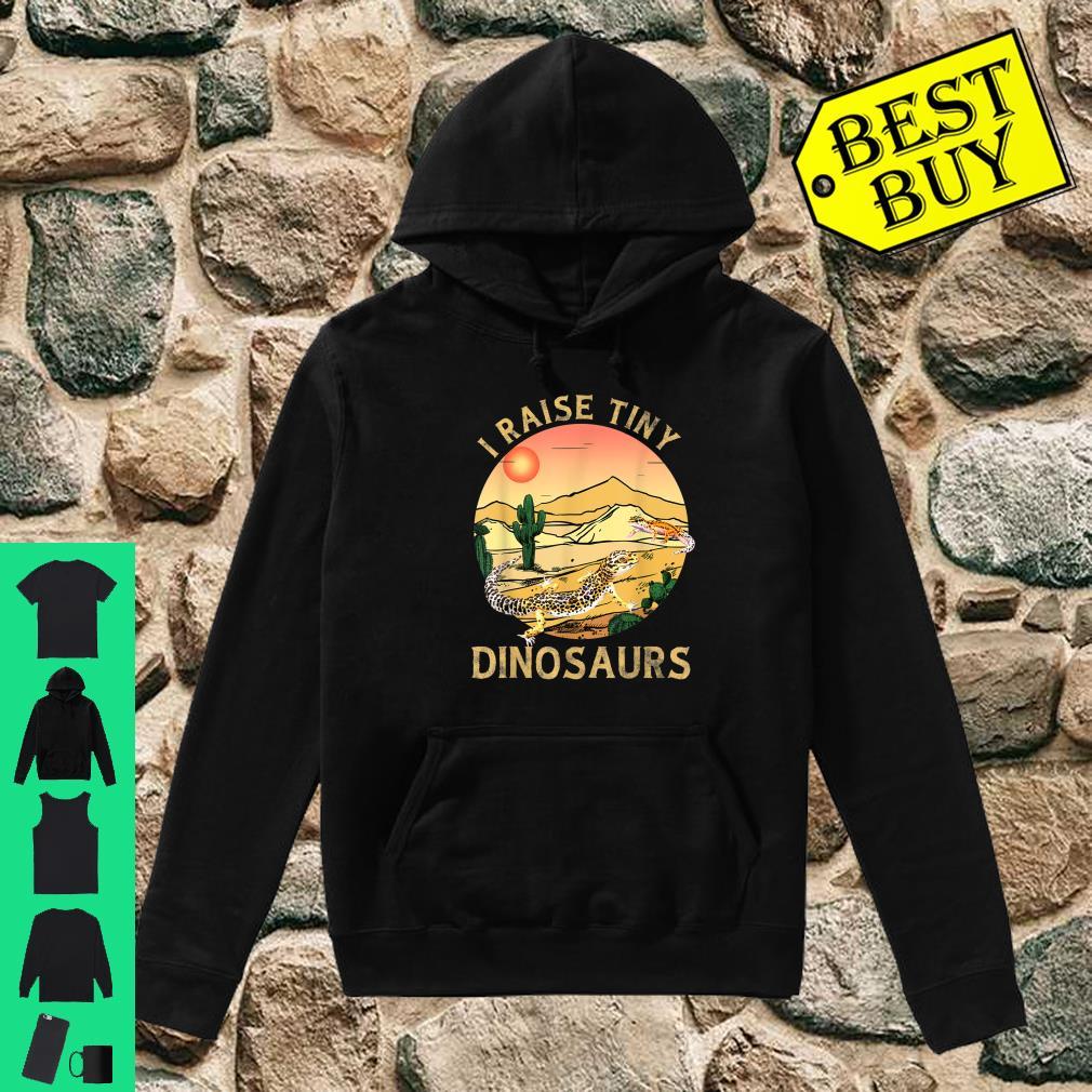Desert Sunset Cactus Leopard Gecko Lizard & Reptiles I Raise Tiny Dinosaurs shirt hoodie