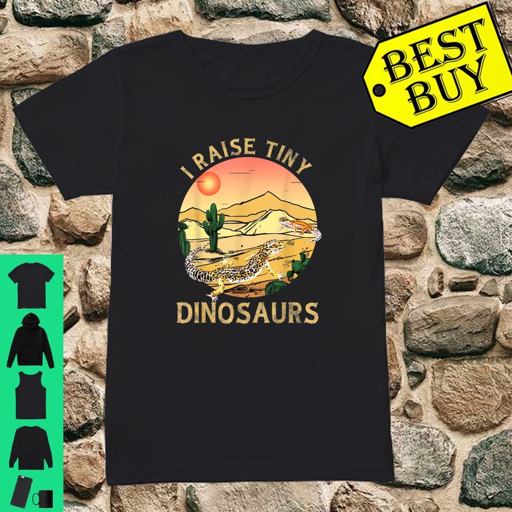 Desert Sunset Cactus Leopard Gecko Lizard & Reptiles I Raise Tiny Dinosaurs shirt ladies tee