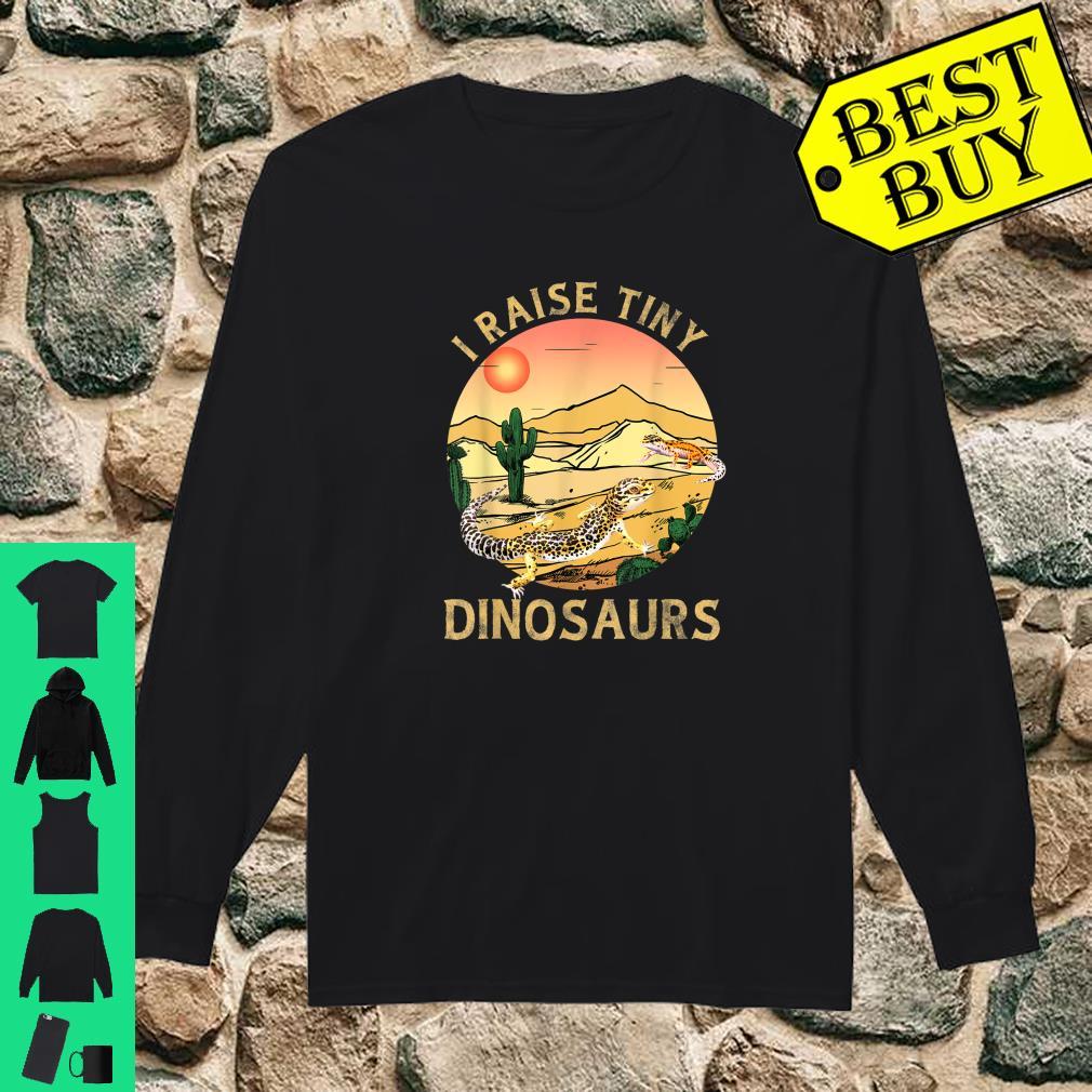 Desert Sunset Cactus Leopard Gecko Lizard & Reptiles I Raise Tiny Dinosaurs shirt long sleeved