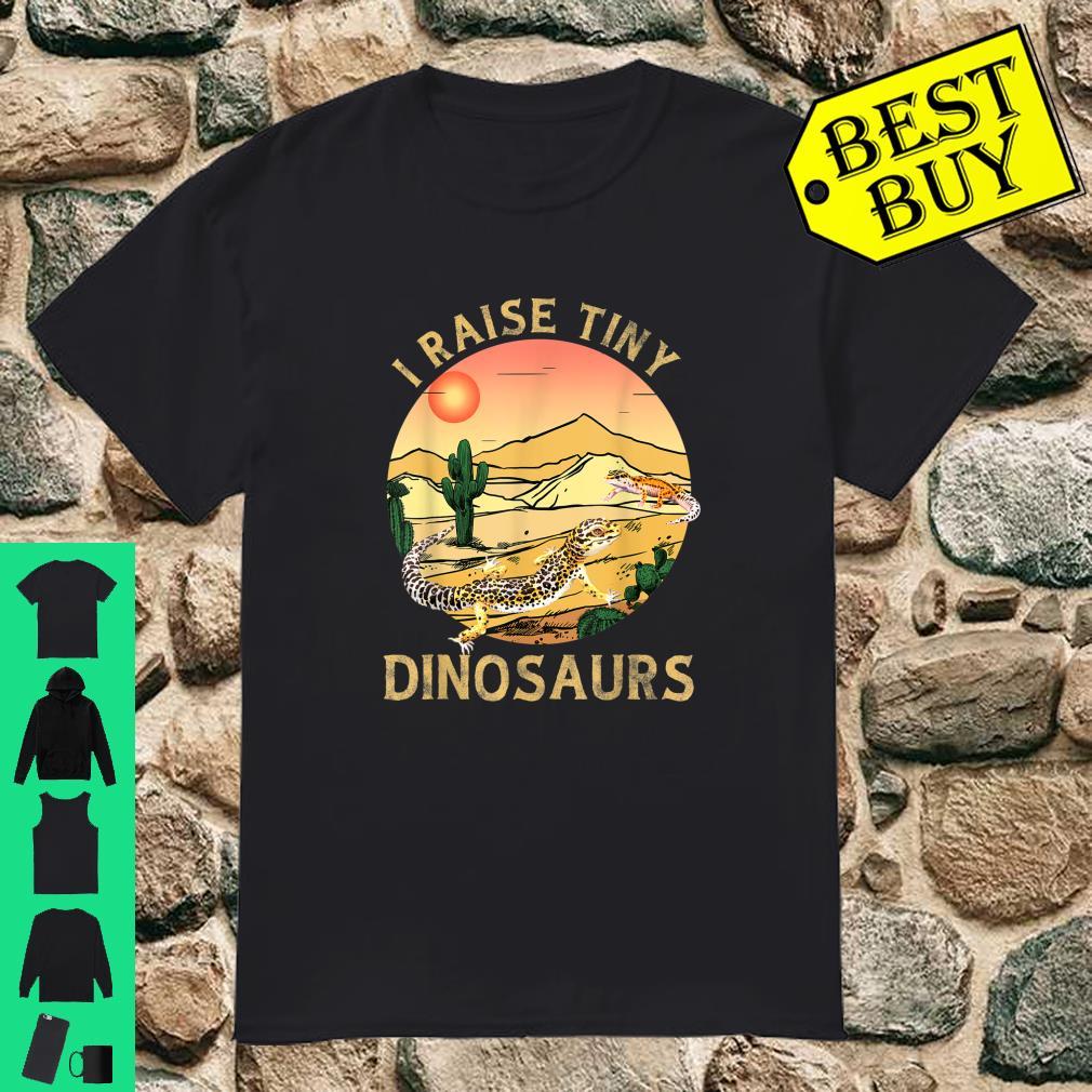Desert Sunset Cactus Leopard Gecko Lizard & Reptiles I Raise Tiny Dinosaurs shirt