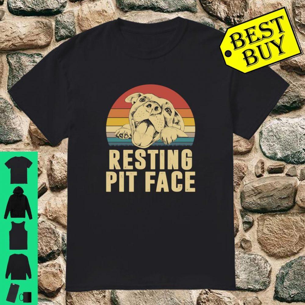 Dog Pitbull Resting Pit Face shirt