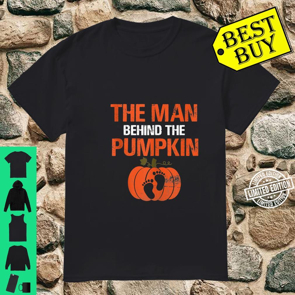 Expecting The Man Behind The Pumpkin Halloween New Dad Shirt