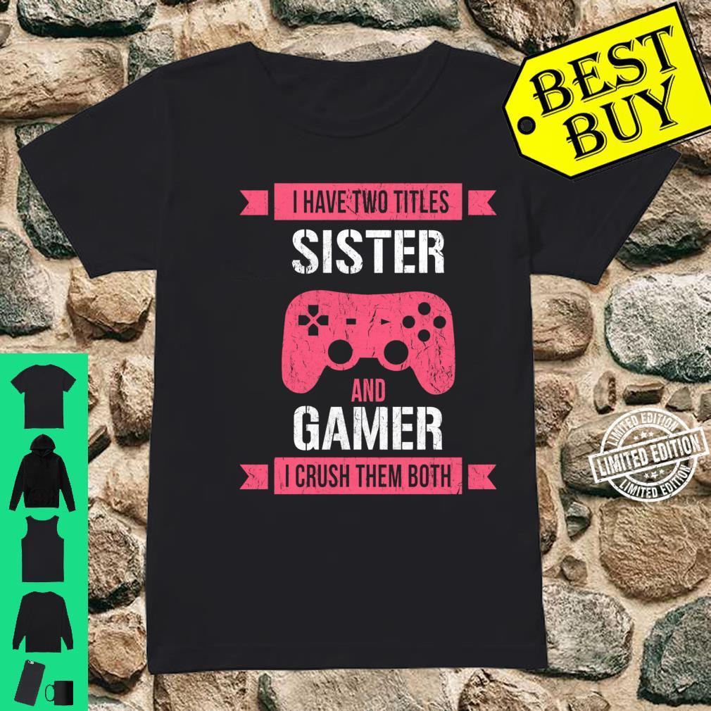 Funny Gamer Vintage Video Games For Girls Shirt ladies tee