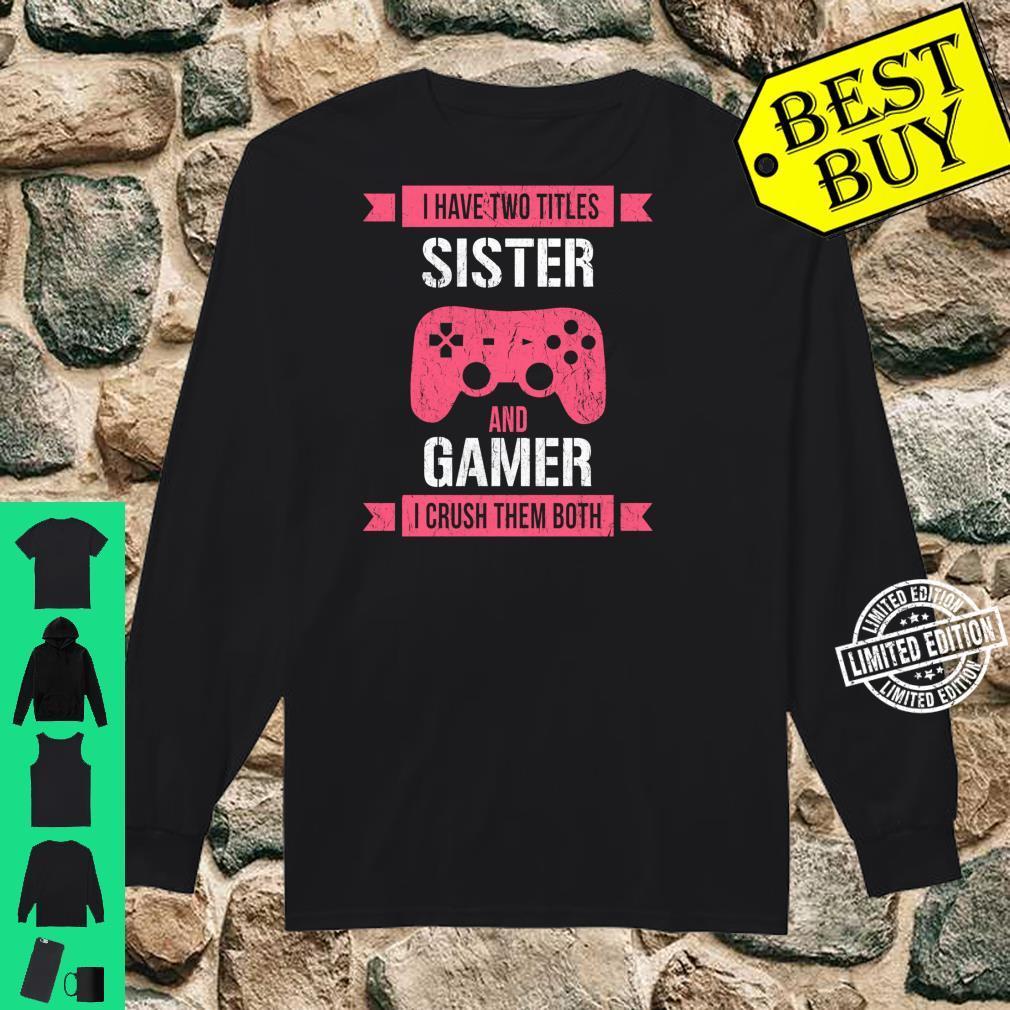 Funny Gamer Vintage Video Games For Girls Shirt long sleeved