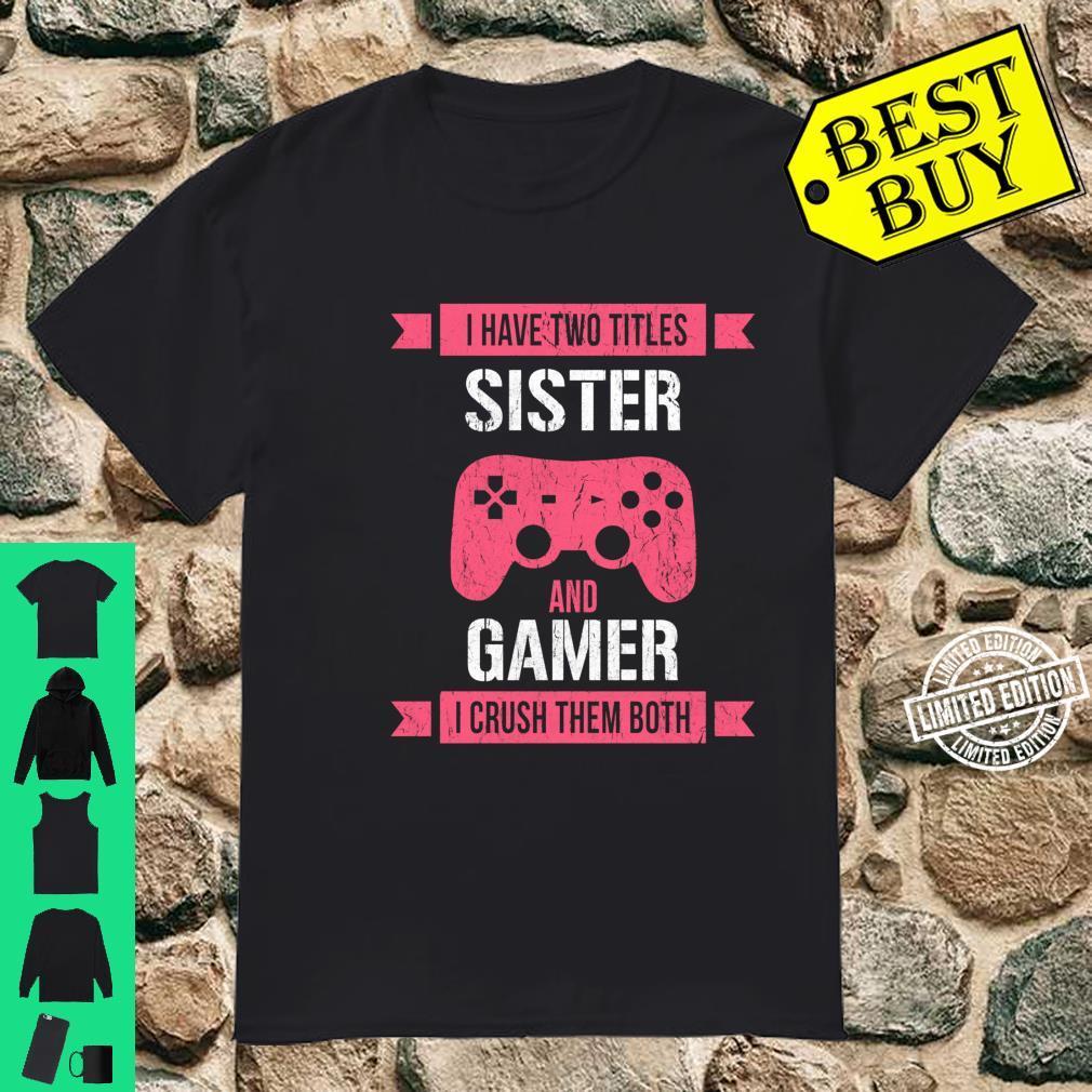 Funny Gamer Vintage Video Games For Girls Shirt