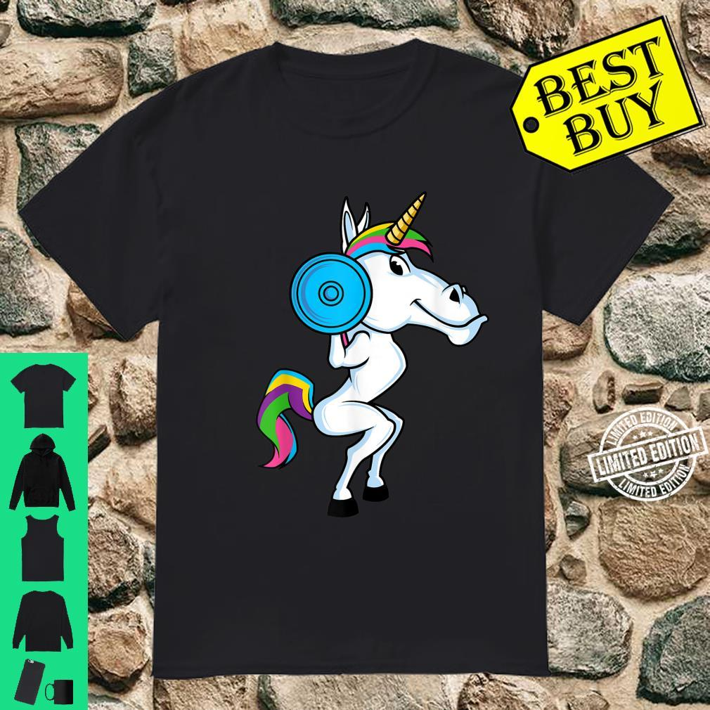 Funny Unicorn Sports Squat Workout Fitness Gym Weightlifter Shirt