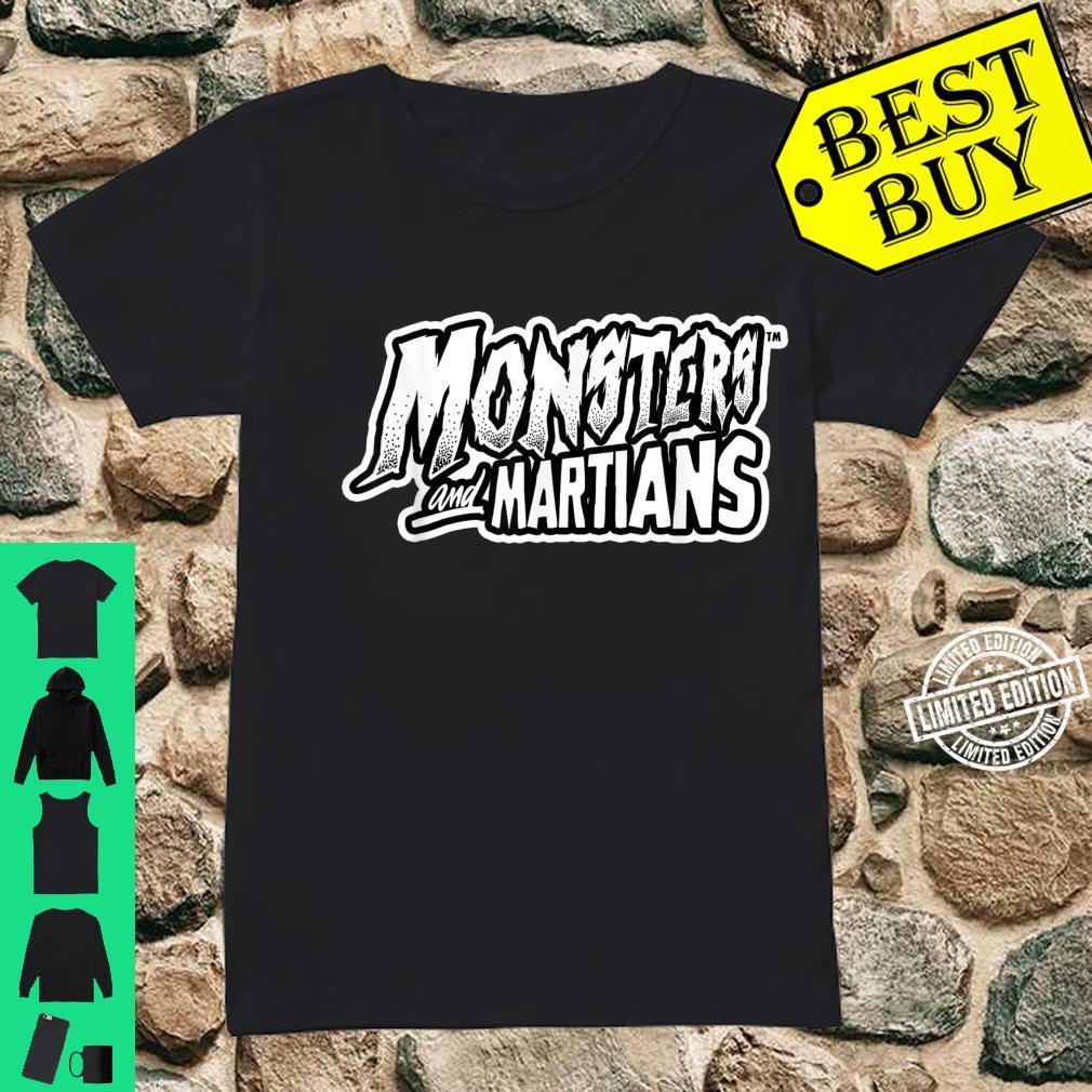 Horror Art Monsters & Martians Logo Psychobilly Punk Art Shirt ladies tee