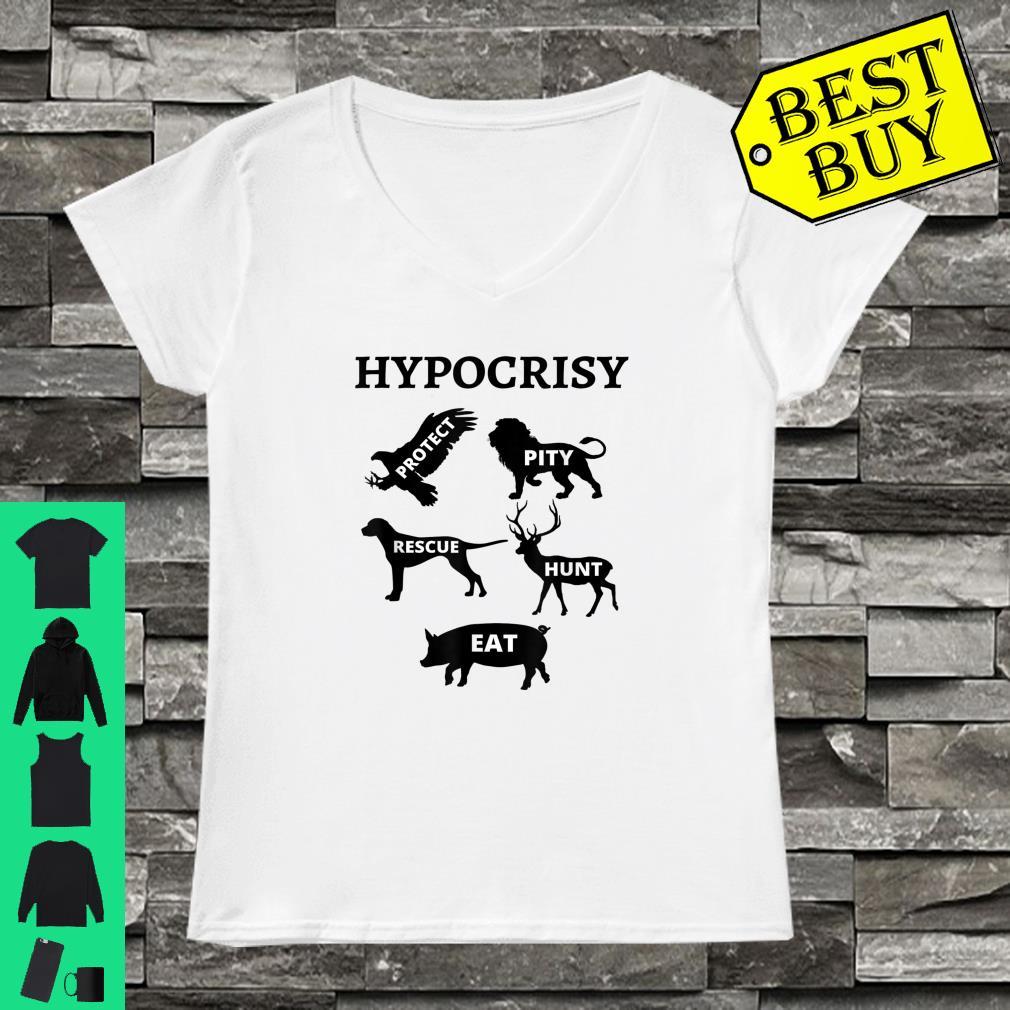 Hypocrisy Cow Vegan Vegetarian Animal Rights Design Shirt ladies tee