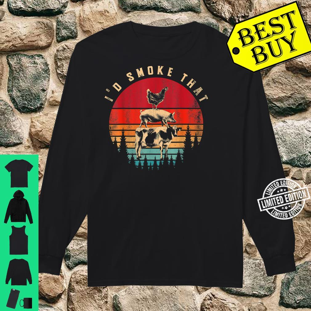 Id Smoke That Smoked Meat BBQ Chef Barbecue Shirt long sleeved