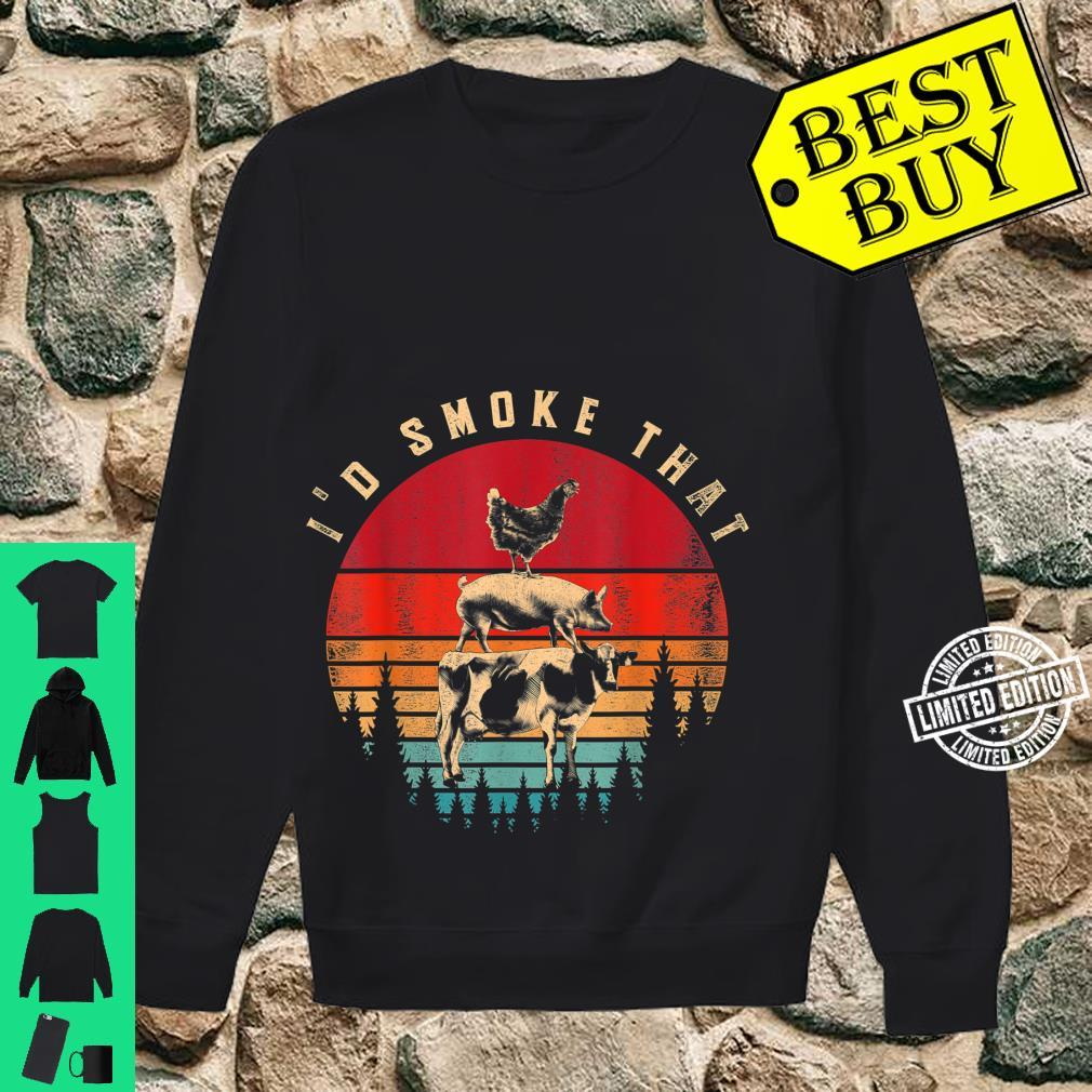 Id Smoke That Smoked Meat BBQ Chef Barbecue Shirt sweater