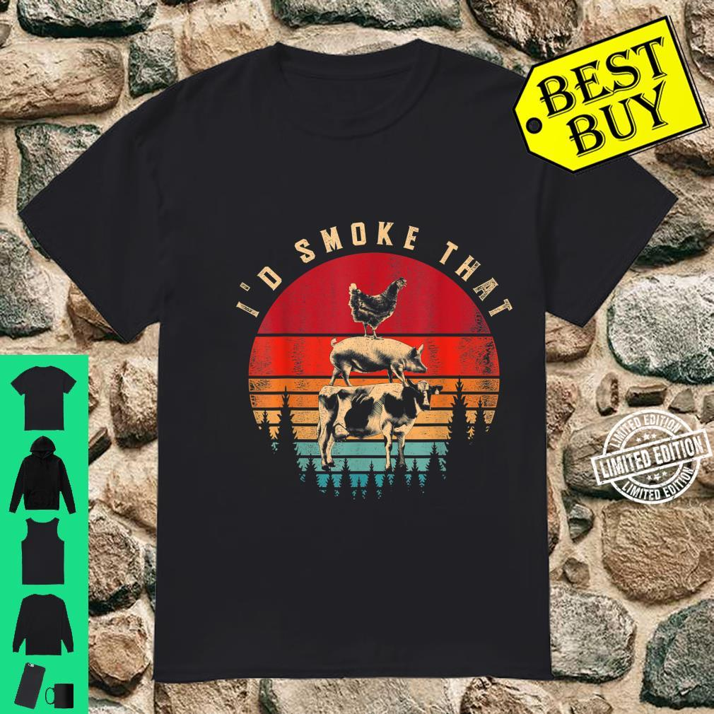 Id Smoke That Smoked Meat BBQ Chef Barbecue Shirt