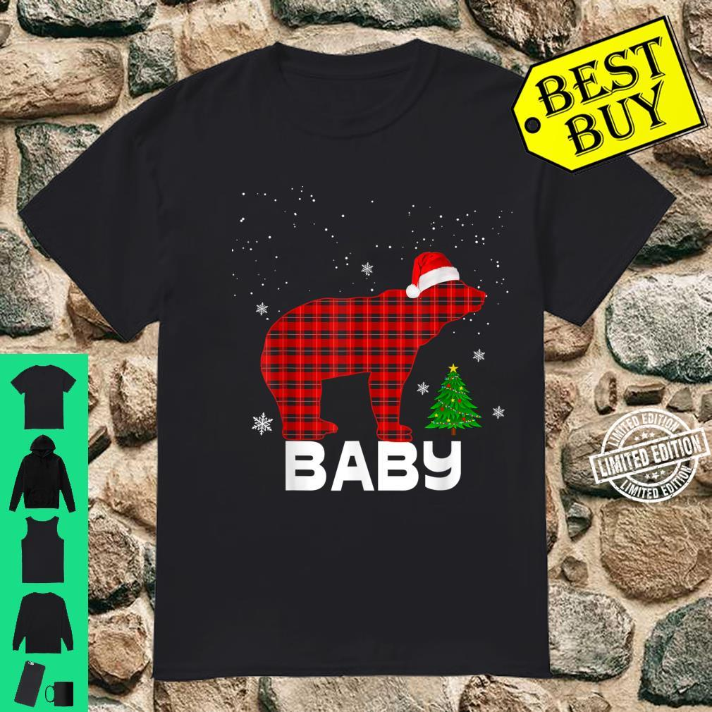 Kids Red Plaid Baby Bear Shirt Matching Pajama Family Shirt
