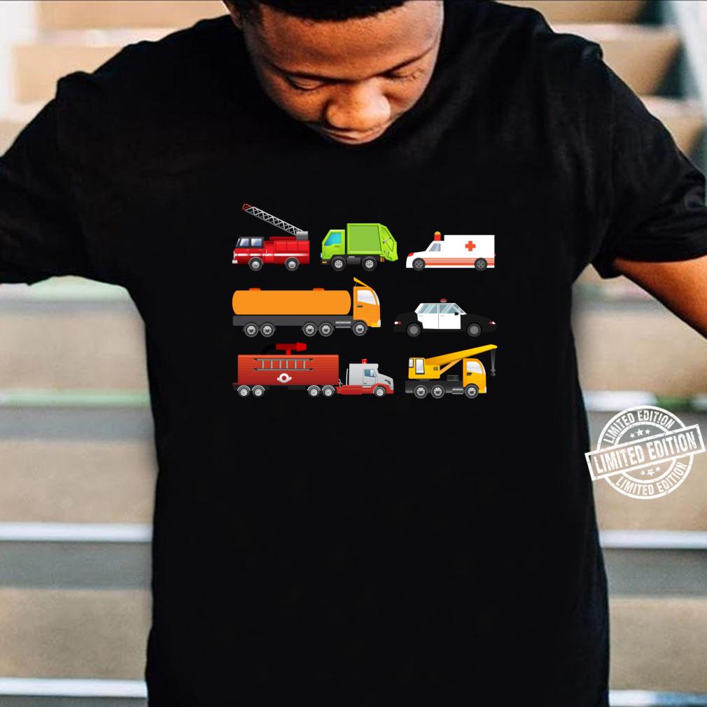 Little Boys Emergency Vehicles Hospital Trucks Shirt