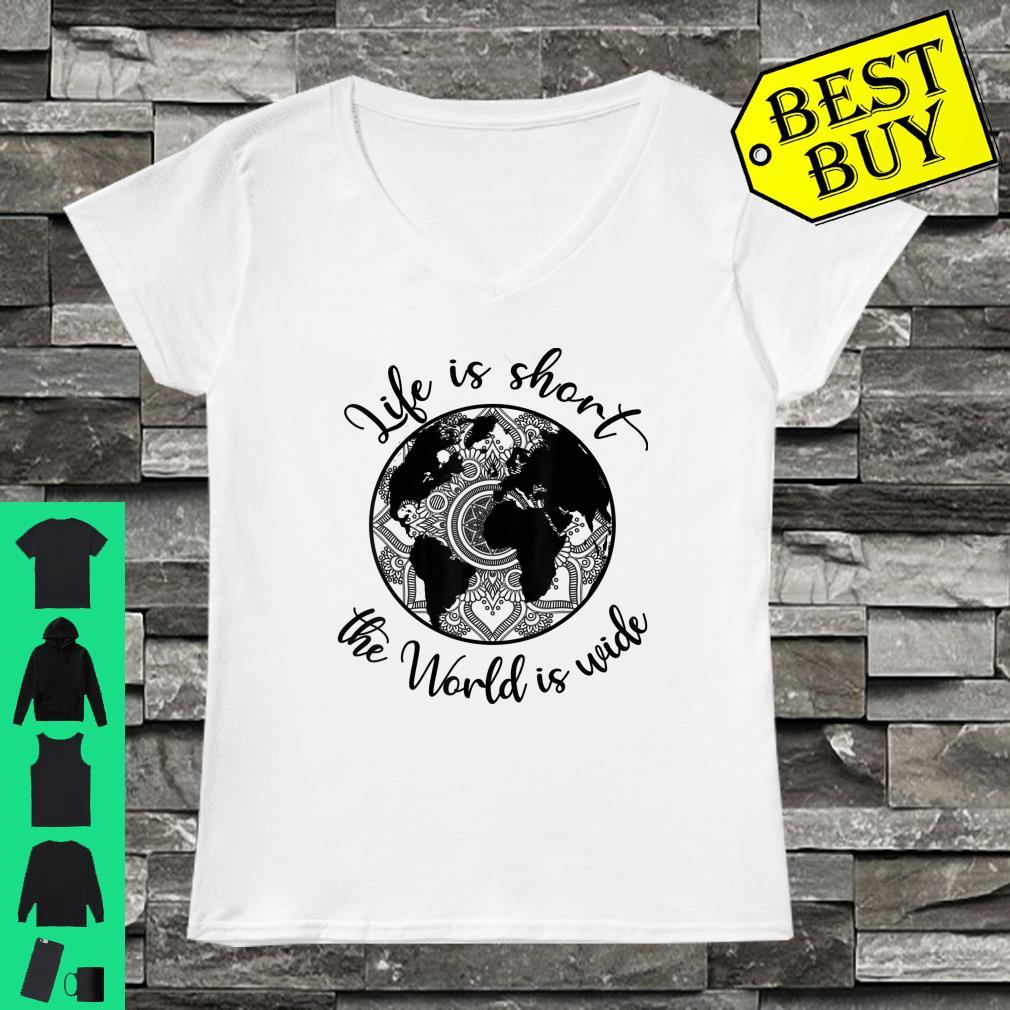 Official Mandala Weltkarte Globus Life Is Short The World Is Wide