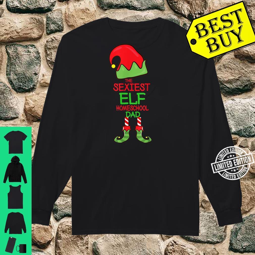Mens The Sexiest Elf Homeschool Dad Christmas Pajama Matching Shirt long sleeved