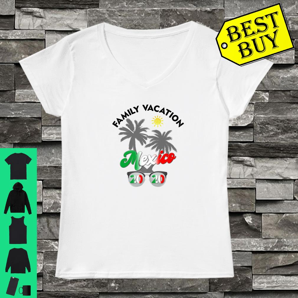 Mexico Vacation 2020 Matching Family Beach Travel Shirt ladies tee