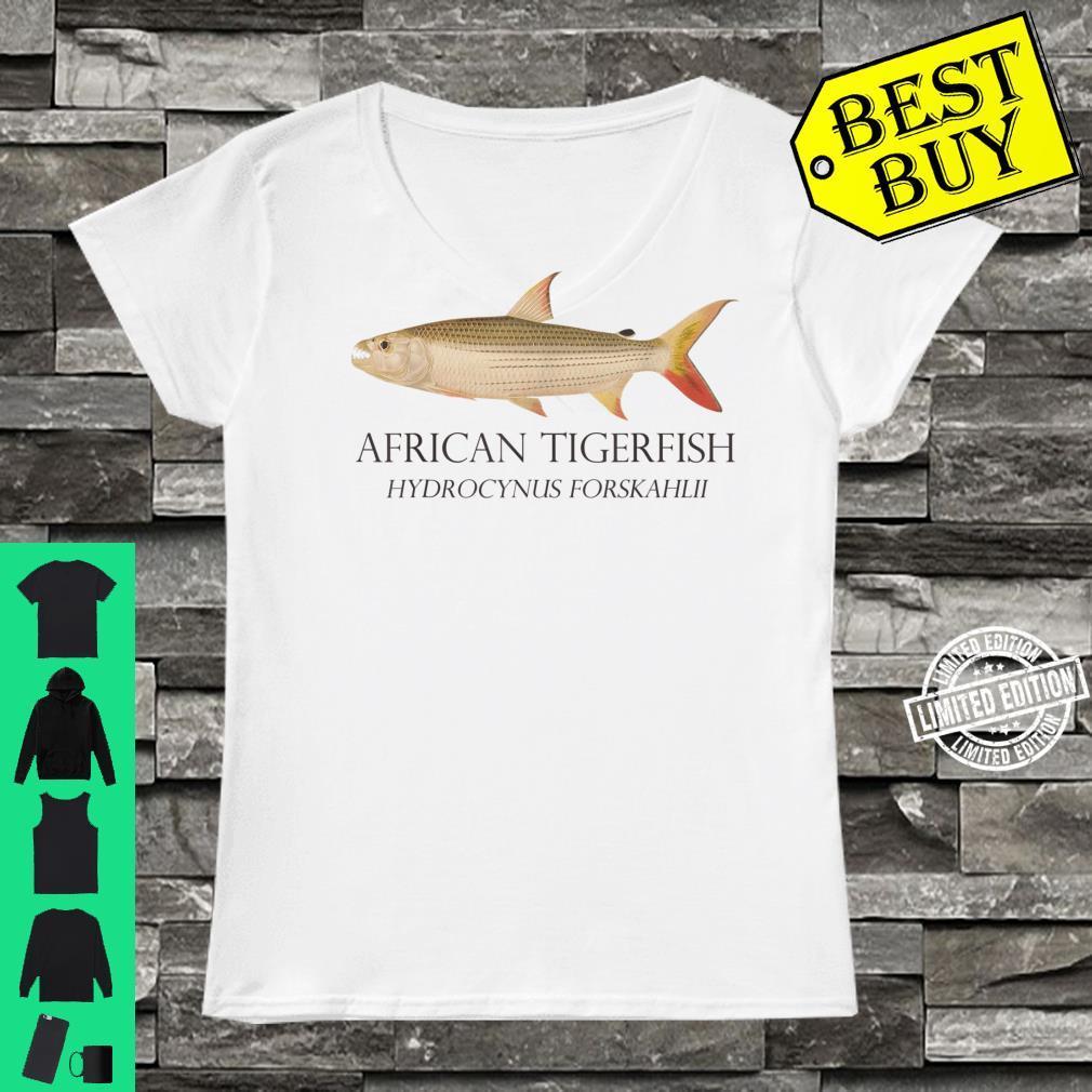 Monster Fish Keeper African Tiger Fish Hydrocynus Aquarium Shirt ladies tee