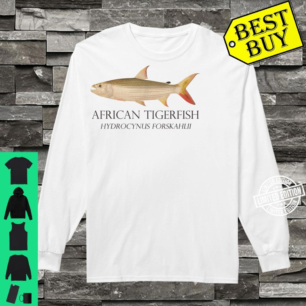 Monster Fish Keeper African Tiger Fish Hydrocynus Aquarium Shirt long sleeved