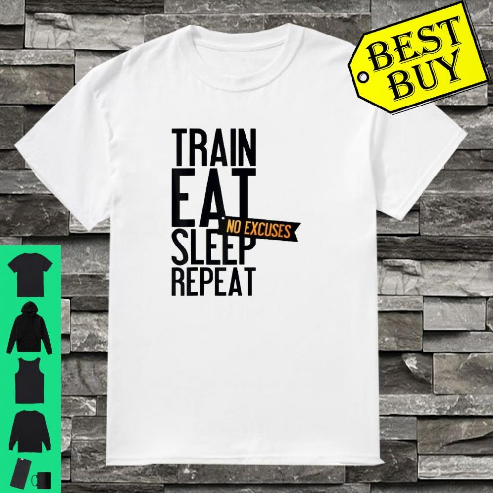 My Plan For Today train eat sleep repeat shirt
