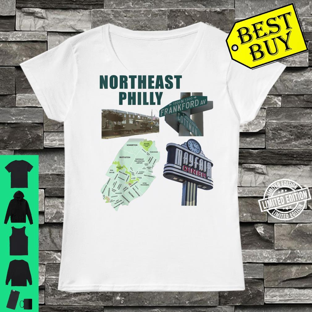 Northeast Philadelphia featuring philly mayfair diner NE Shirt ladies tee