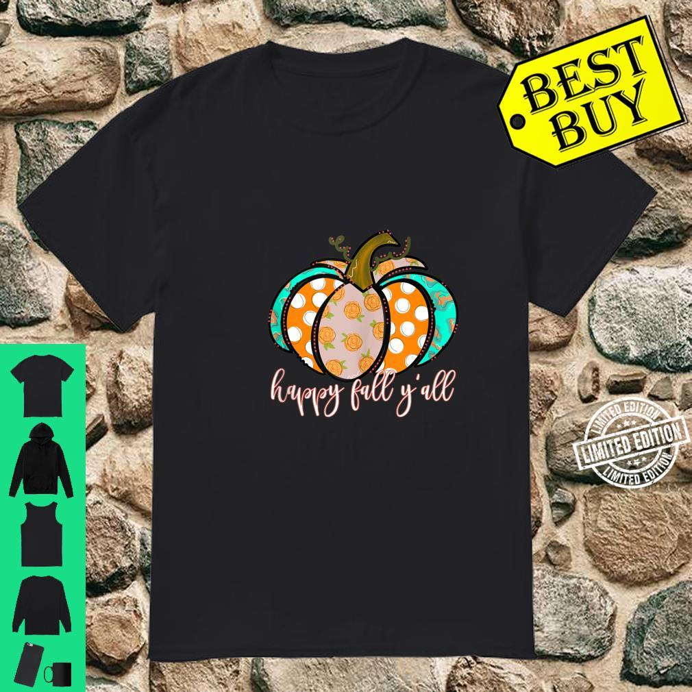Polka Dot Pumpkin Vintage Floral IT'S FALL Y'ALL Rustic Fall Shirt