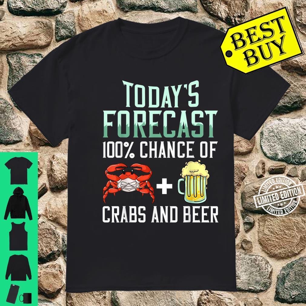 Red Crab Fishing Beer Claws Crabbing Shirt