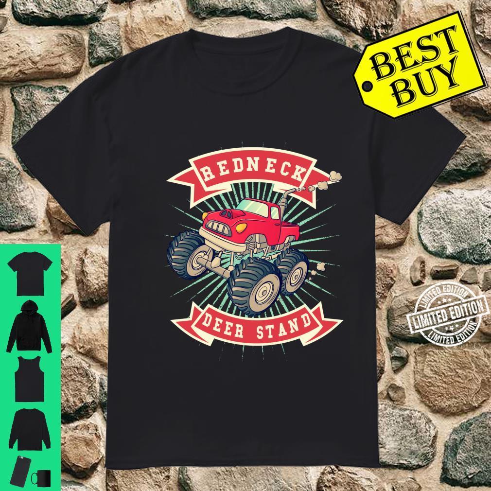 Redneck Deer Stand Hunting Monster Truck Cartoon Shirt