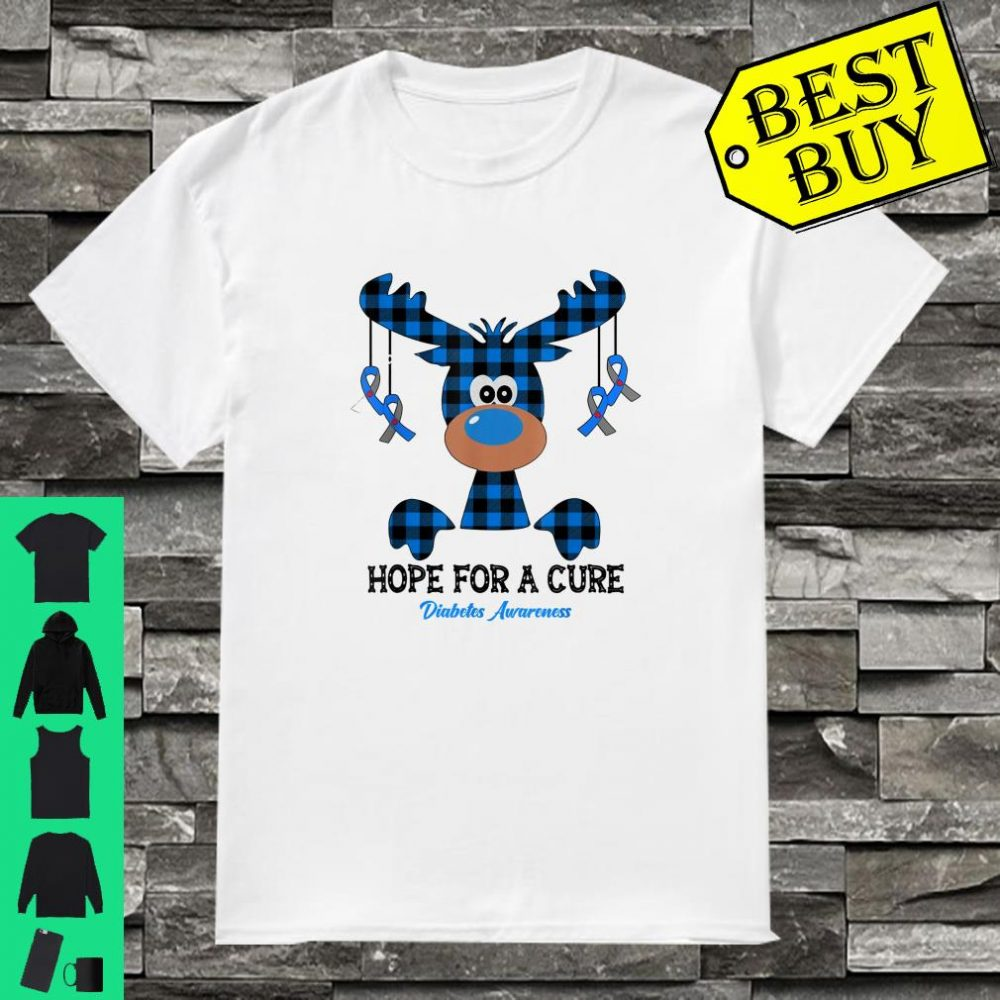 Reindeer Hope For A Cure Diabetes Awareness Christmas shirt