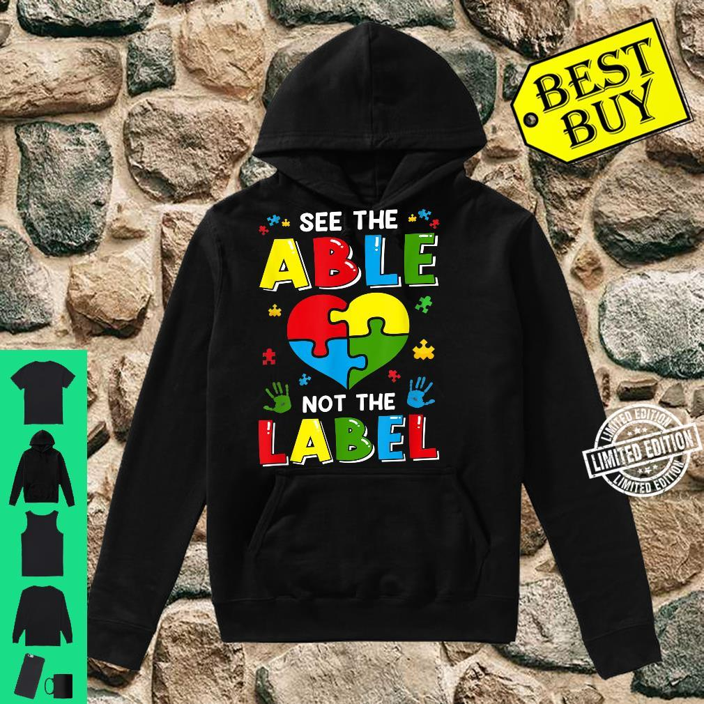 See The Able Not The Label Autism Awereness Be Kind Boy Shirt hoodie