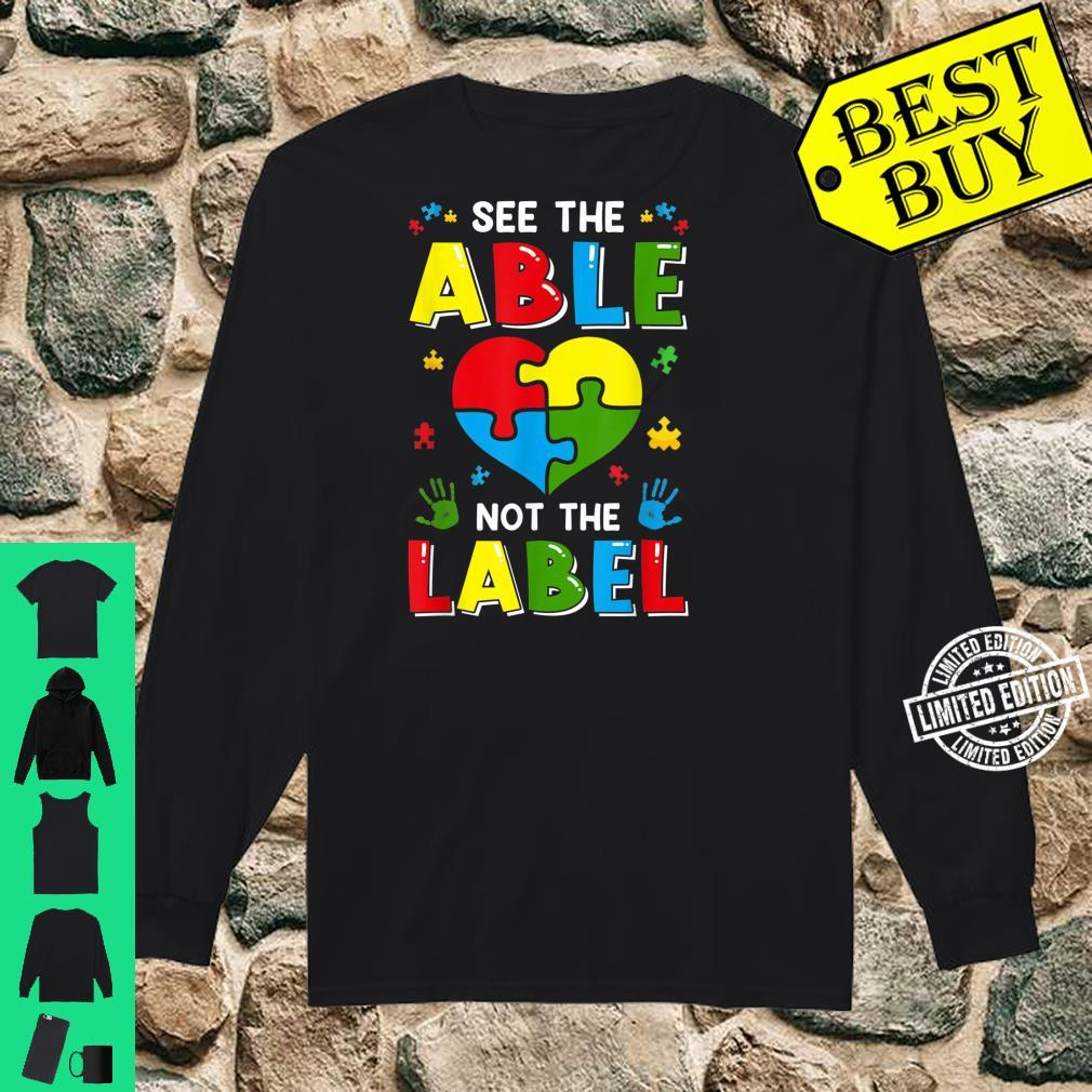 See The Able Not The Label Autism Awereness Be Kind Boy Shirt long sleeved