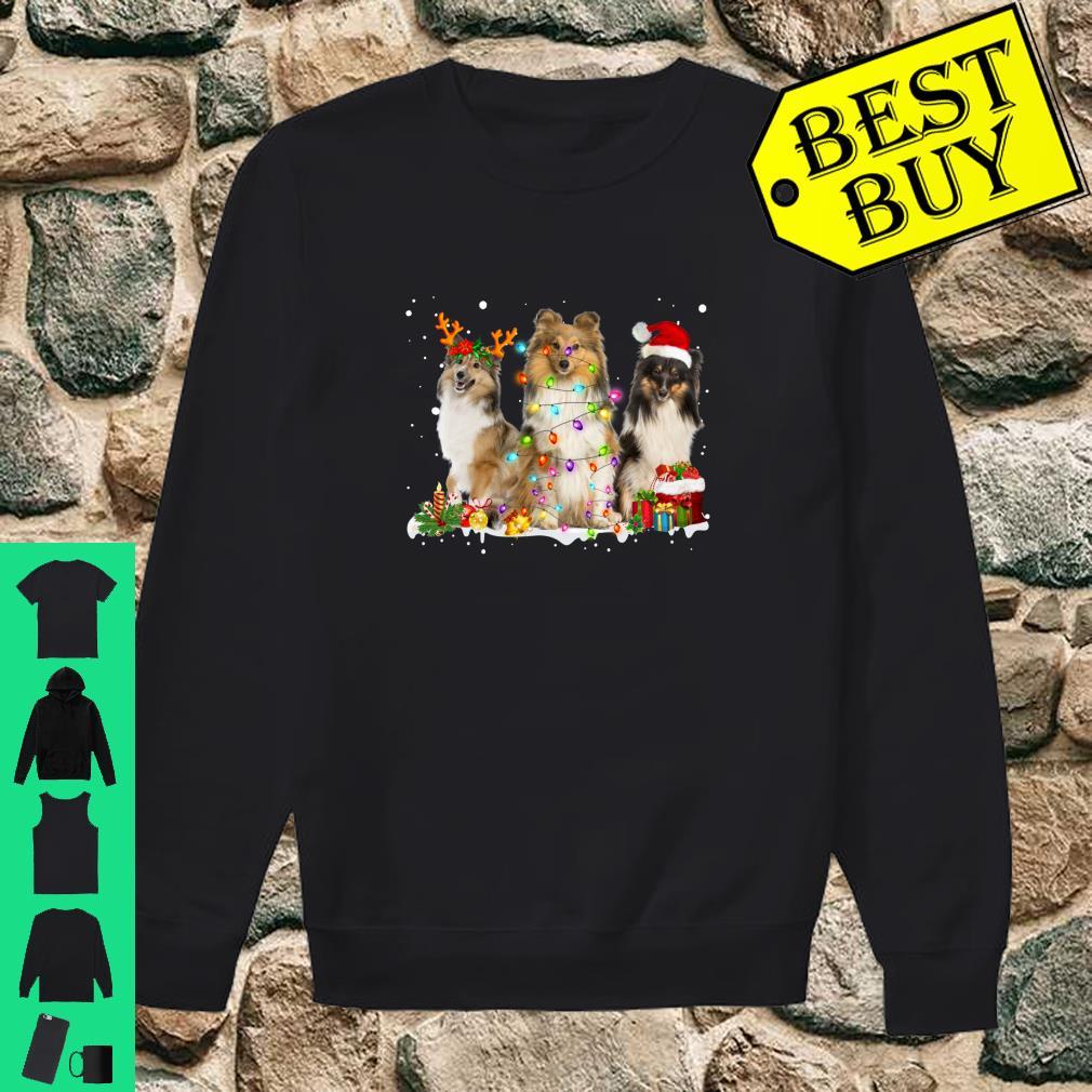 Shetland Collie Christmas Reindeer Lights Graphic shirt sweater