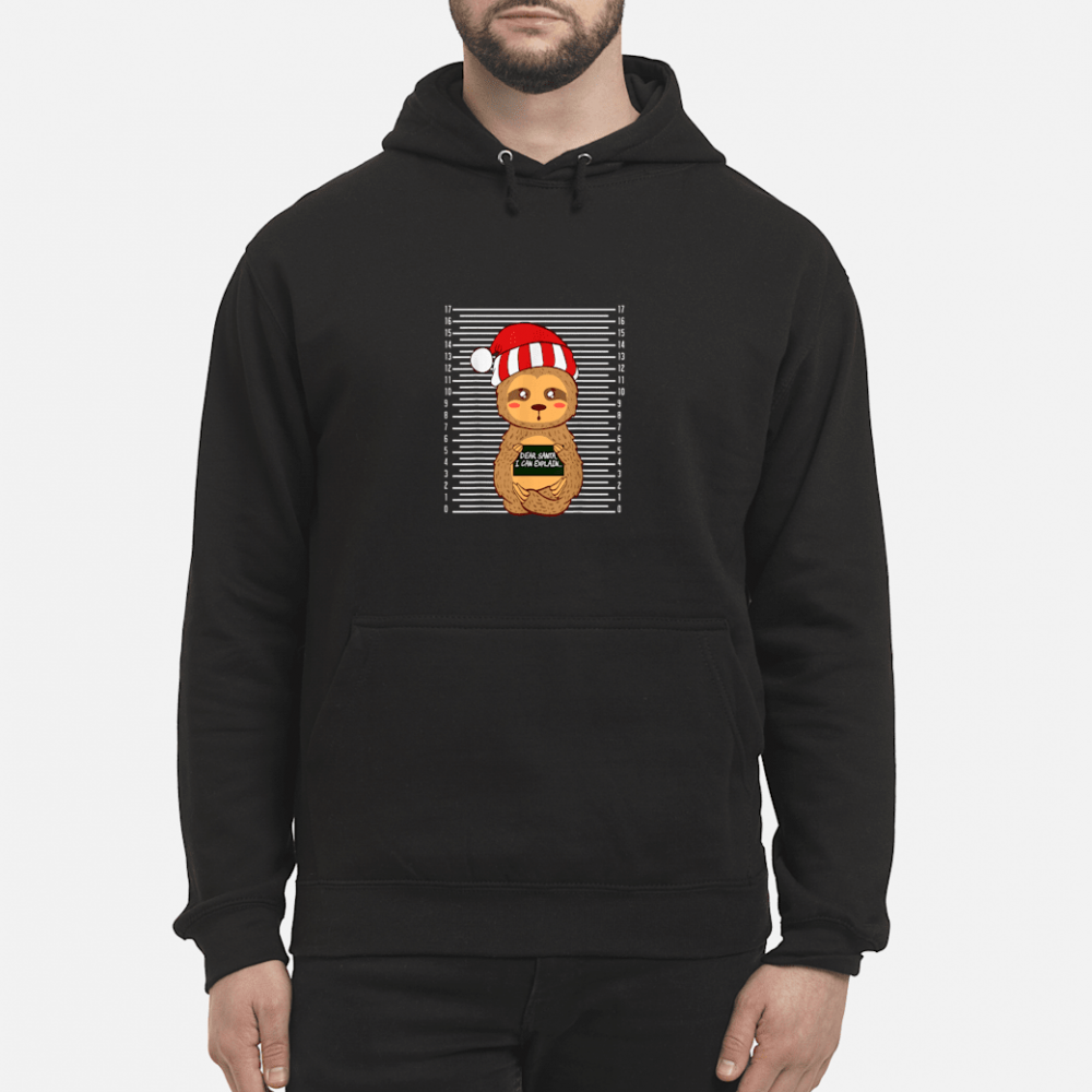 Sloth Lazy Christmas Santa Present Animal Design shirt hoodie