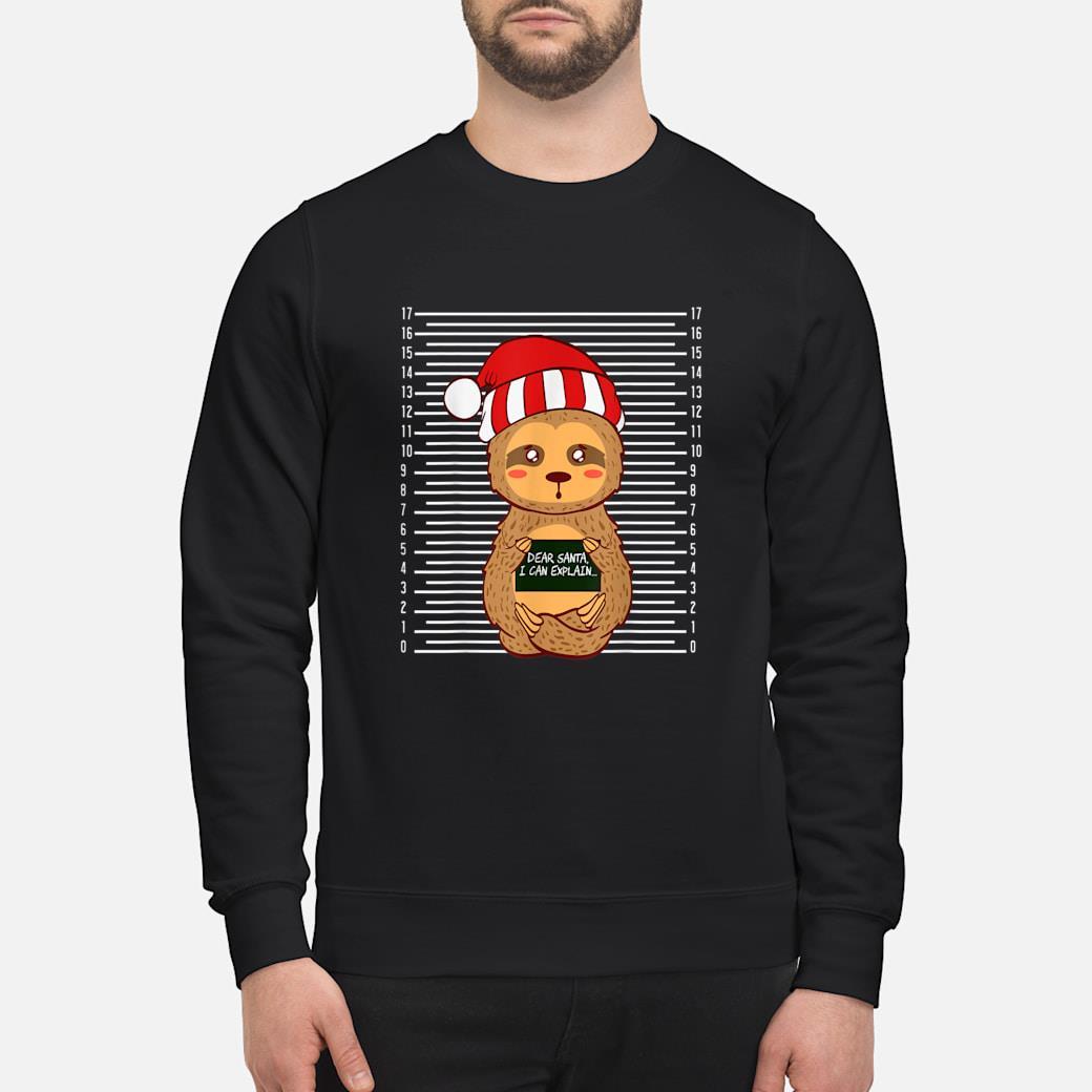 Sloth Lazy Christmas Santa Present Animal Design shirt sweater