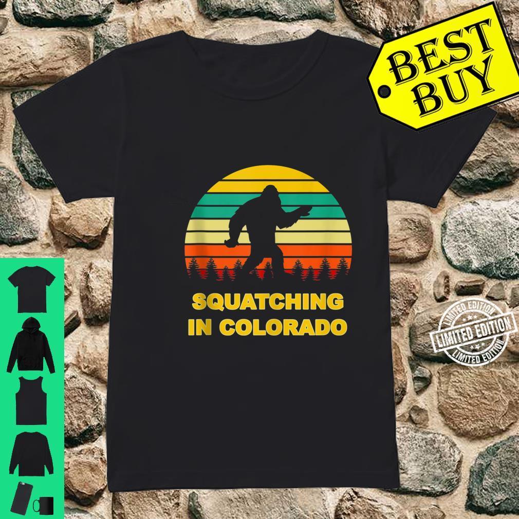 Squatching in Colorado Sasquatch Yeti Sightings Shirt ladies tee