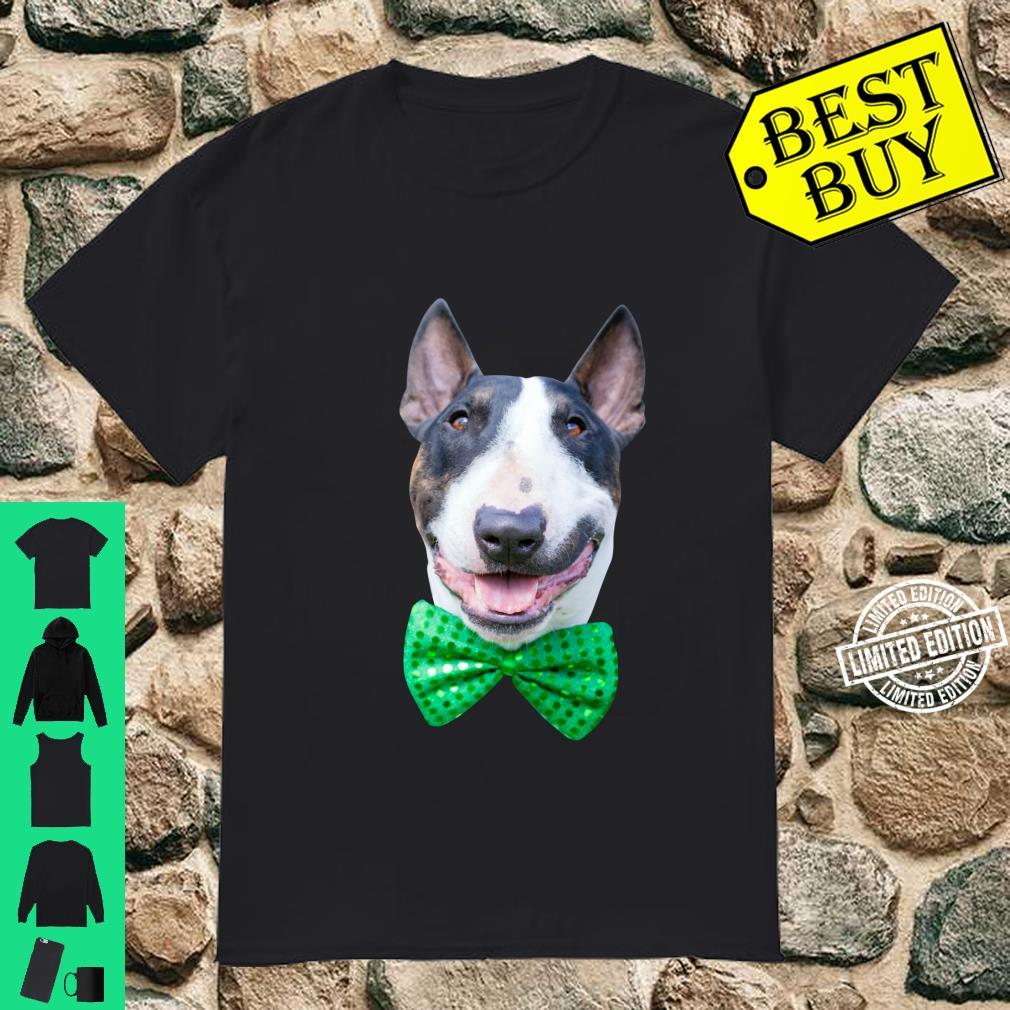 St. Patrick's Day Dog Wearing Green Bow Tie Shirt