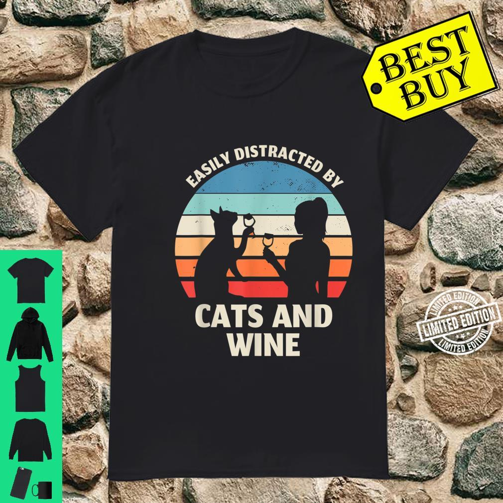 TShirt with German Text 'Slightly Distributed by Cats and Wine' Shirt