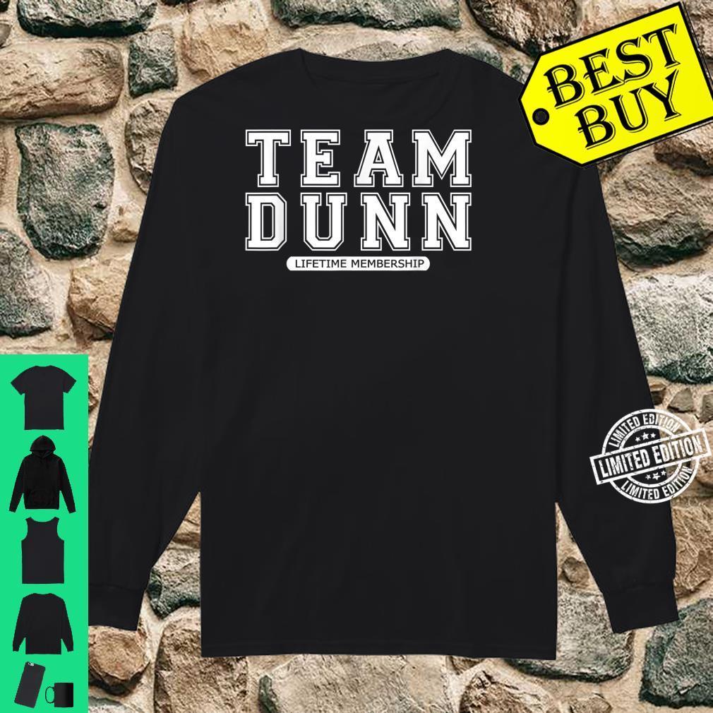 Team DUNN Family Surname Reunion Crew Member Shirt long sleeved
