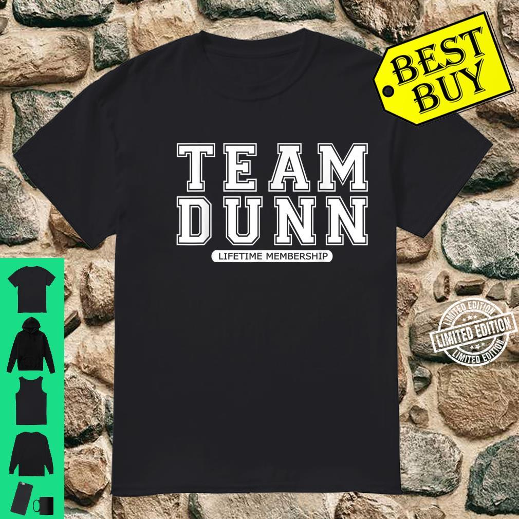 Team DUNN Family Surname Reunion Crew Member Shirt