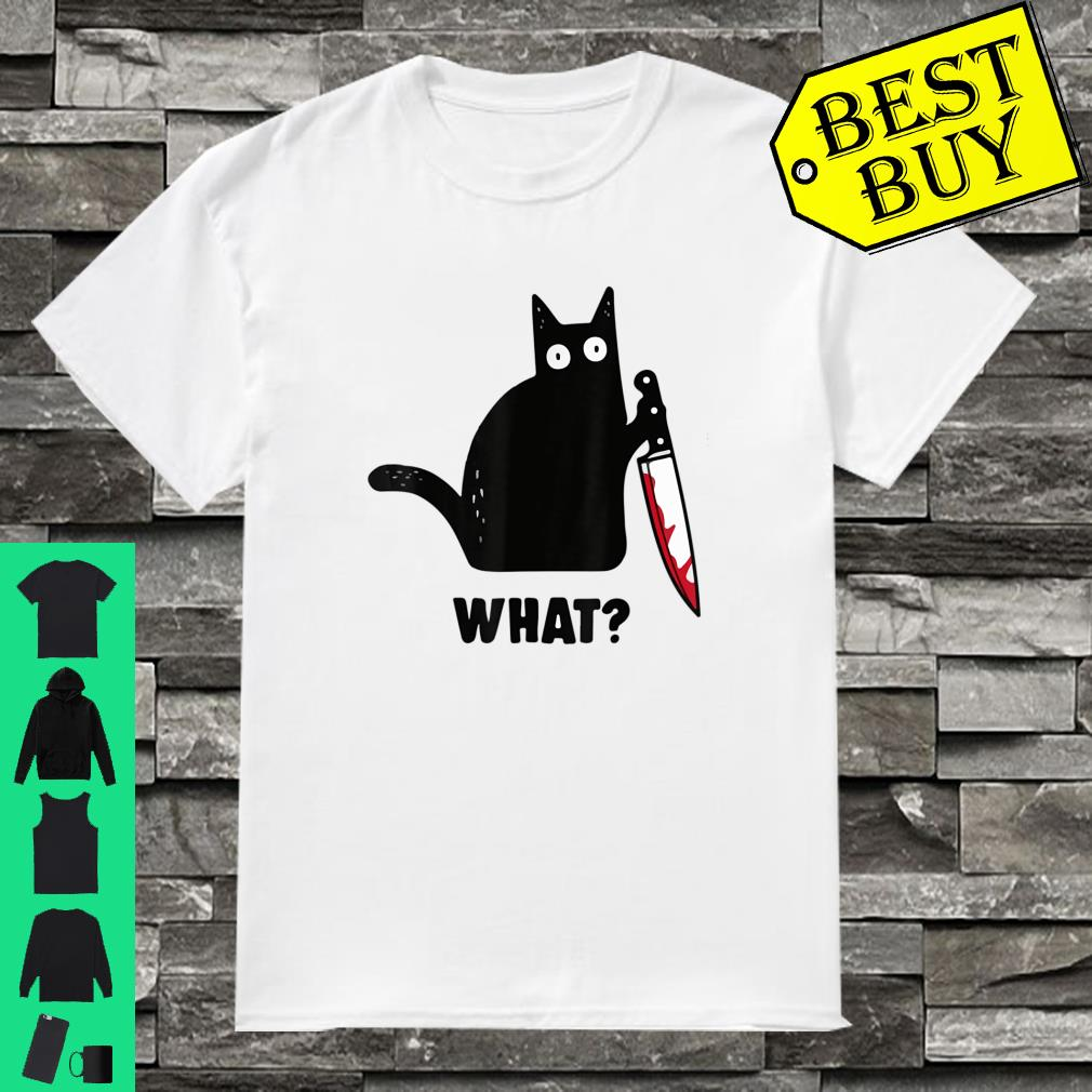 The cat what halloween shirt
