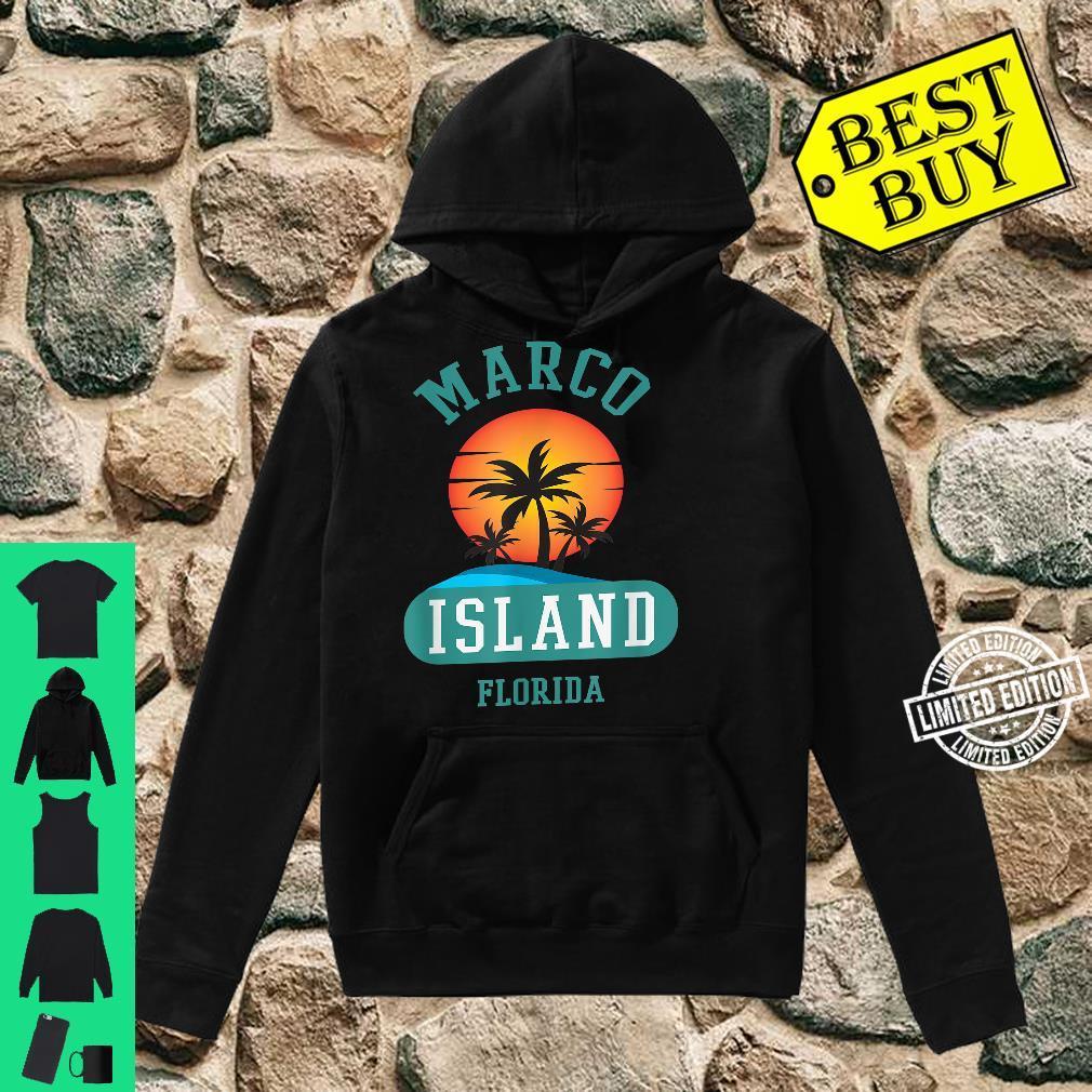 Unique Retro Marco Island Florida Beaches Sunset Novelty Shirt hoodie