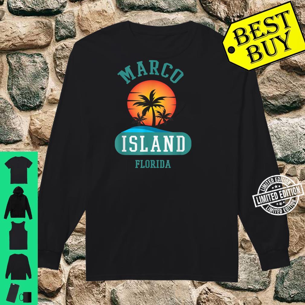 Unique Retro Marco Island Florida Beaches Sunset Novelty Shirt long sleeved